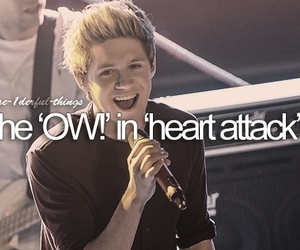 one direction, niall horan, and heart attack image