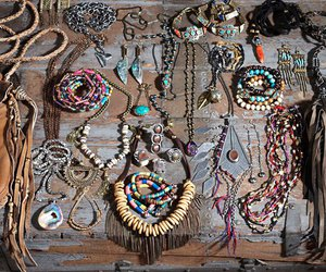 bracelets, hippie, and necklaces image