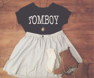 tomboy, outfit, and clothes image