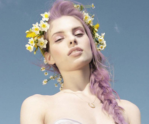 adorable, pastell hair, and flowers image