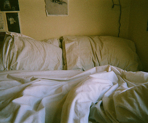 bed, vintage, and photography image
