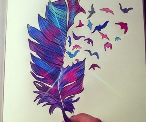feather, birds, and art image