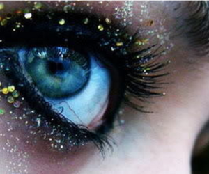 glitter, blue, and eye image