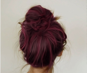 hair, inspiration, and pink image