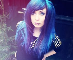 dyed hair, scene, and colorfull hair image