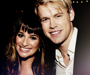 glee, chord overstreet, and lea michele image