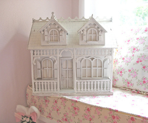 pink, doll house, and pastel image