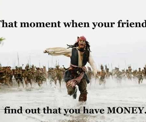 money, friends, and funny image