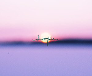 hope, Dream, and sunset image