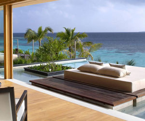 luxury, house, and beach image