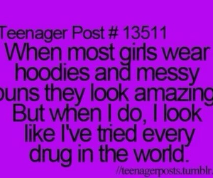 quote, teenager post, and hoodies image