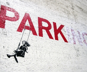 BANKSY, park, and girl image