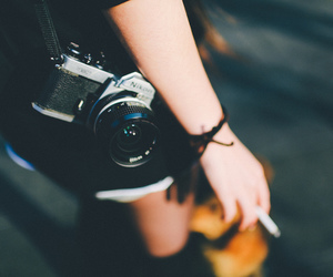 camera, cigarette, and photography image