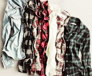 fashion, shirt, and flannel image