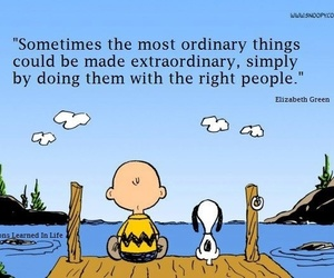 quote, snoopy, and friends image