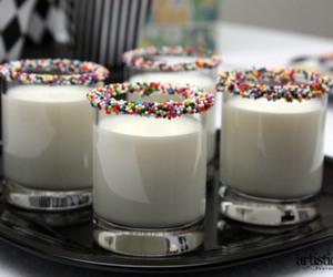 milk, drink, and sprinkles image