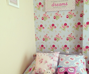 bedroom, cath kidston, and cottage image
