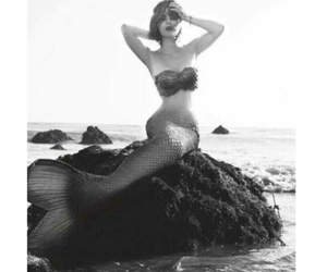 ariel, black and white, and girl image