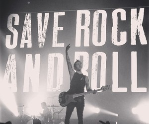fall out boy, pete wentz, and save rock and roll image