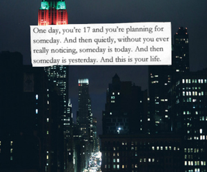 city, quote, and life image