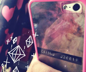galaxy, iphone, and pink image