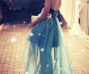 blue, gowns, and Prom image