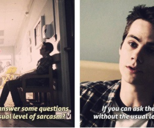 teen wolf, stiles stilinski, and sarcasm image