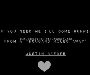 Lyrics, quote, and justin bieber image