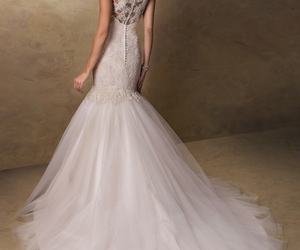 beautiful, wedding, and wedding dress image