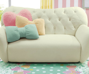 pastel, sofa, and decor image