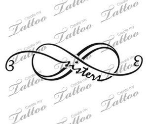 infinity, sisters, and tattoo image