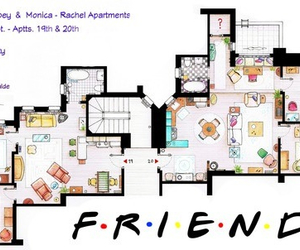 friends, apartment, and Joey image