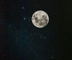amazing, moon, and stars image