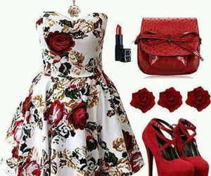 dress, sun, and fashionable image