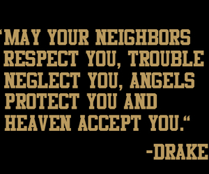 Drake, quote, and angels image