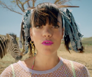 lily allen, zebra, and air baloon image
