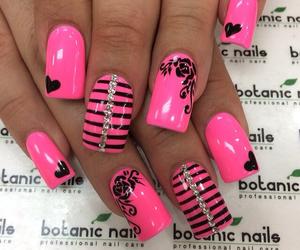 barbie, nails, and botanic nails image