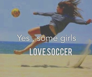 soccer, girl, and love image