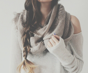 braid, scarf, and style image