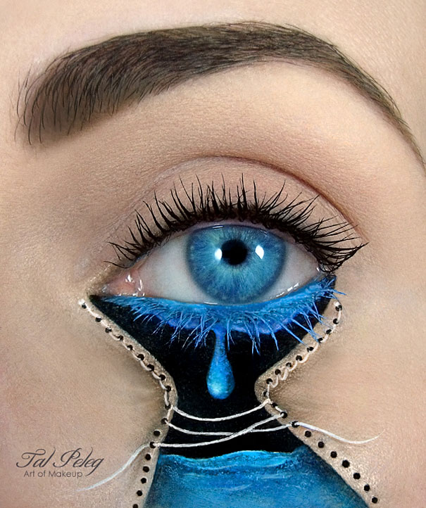 Cute Eye Makeup Illustrations By Tal Peleg Demilked