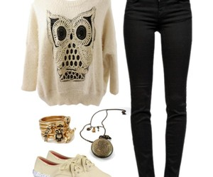 clothes, outfit, and owl image