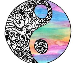 yin yang, galaxy, and overlay image