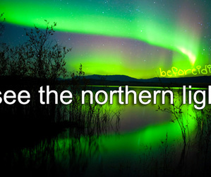 before i die and northern lights image
