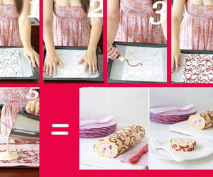 cake, diy, and roll image