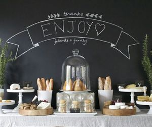 blackboard, enjoy, and food image