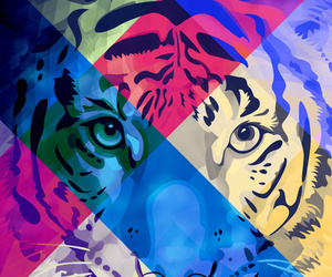tiger, wild, and ornaart image