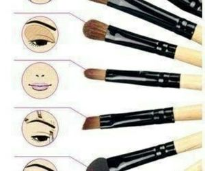makeup, Brushes, and make up image