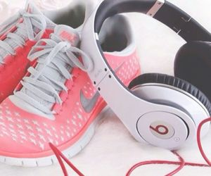 nike, pink, and beats image