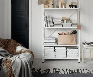 books, bookself, and decoration image