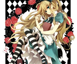 alice, anime cute, and alone image